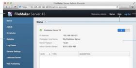 FileMaker Server Admin Panel