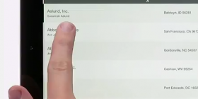 FileMaker Go with finger on screen