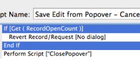 Script code example