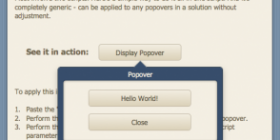 Example of a popover window