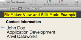 View and Edit mode example in FileMaker
