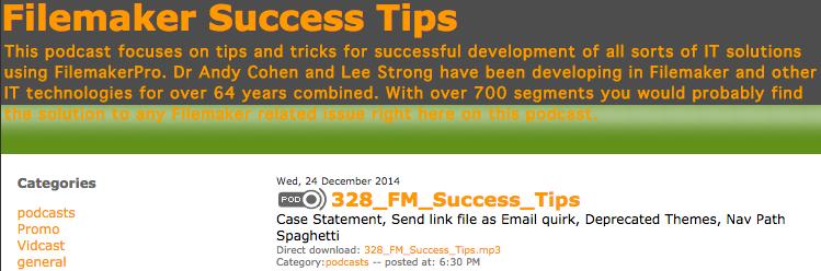 FileMaker Success tips 328