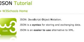Json tutorial logo