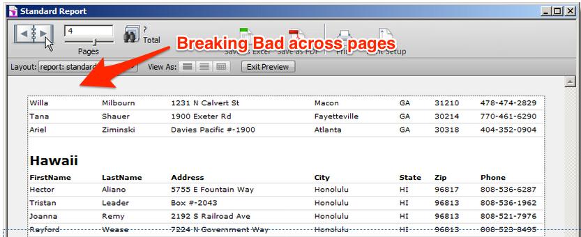 Breaking Bad report example