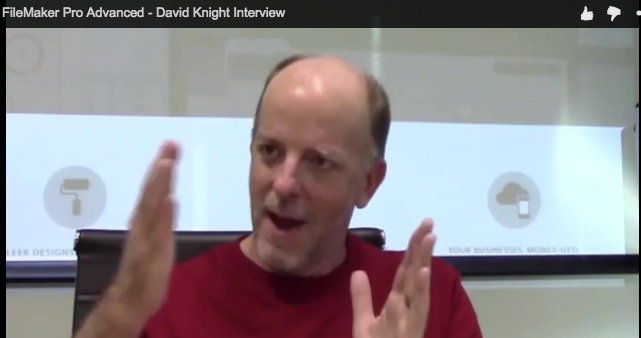 David Knight waving his hands
