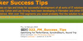 FileMaker Success Tips 322