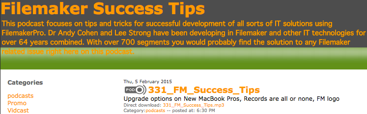 FileMaker Success Tips 331