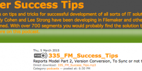 Filemaker Success Tips 335
