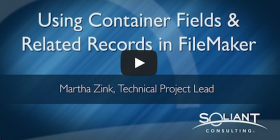 Container fields in related records