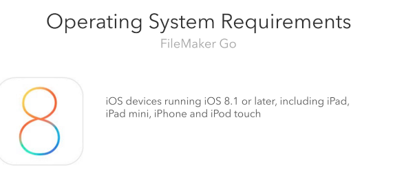 FileMaker Go Operating System Requirements
