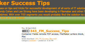 FileMaker Success Tips 343