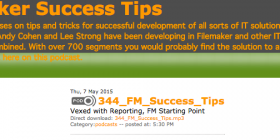 FileMaker Success Tips 344
