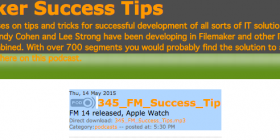 Filemaker Success Tips 345