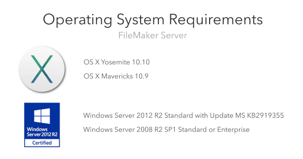 Server Operating System Requirements