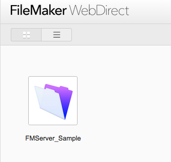 FileMaker WebDirect