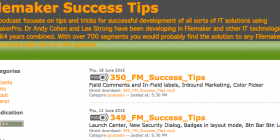 FileMaker Success Tips