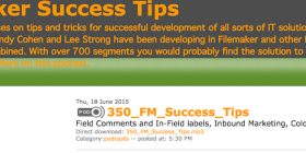 FileMaker Success Tips 350