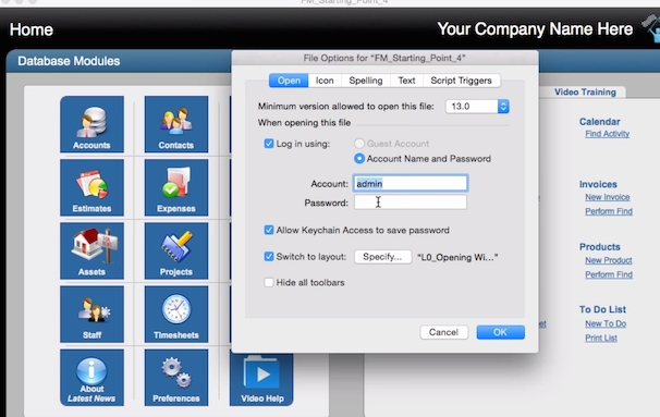 FileMaker 14 Security