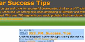 Filemaker Success Tips 353