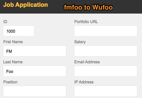 fmfoo to Wufoo