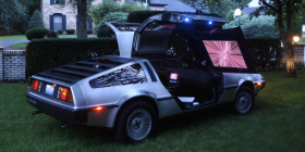 Delorean with Movie Projector in the front