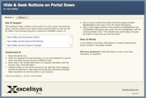 Hide Portal Row Buttons