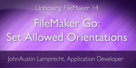FileMaker Go - Set Allowed Screen Orientations