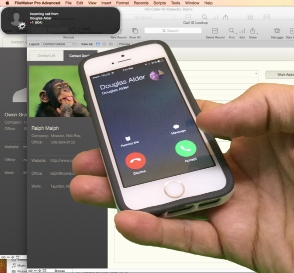 Caller ID Finds Related FileMaker Records
