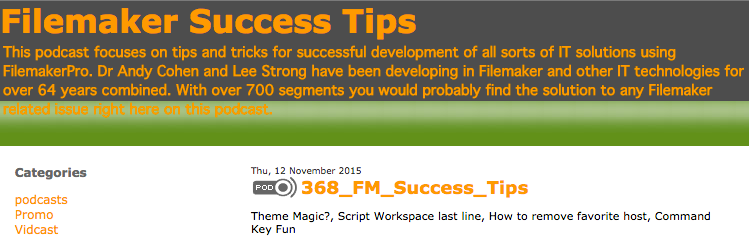 Filemaker Success Tips 368