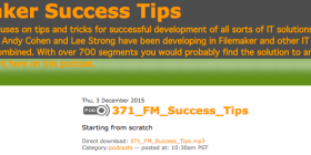 Filemaker Success Tips 371