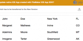 Updating a FileMaker iOS App