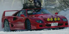 Ferrari F40 in the snow