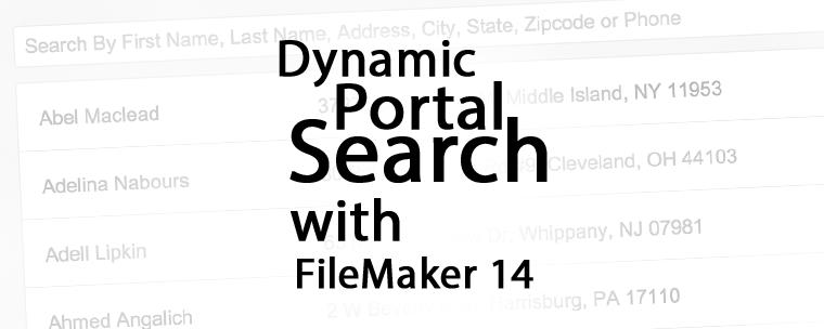 Dynamic Portal Search