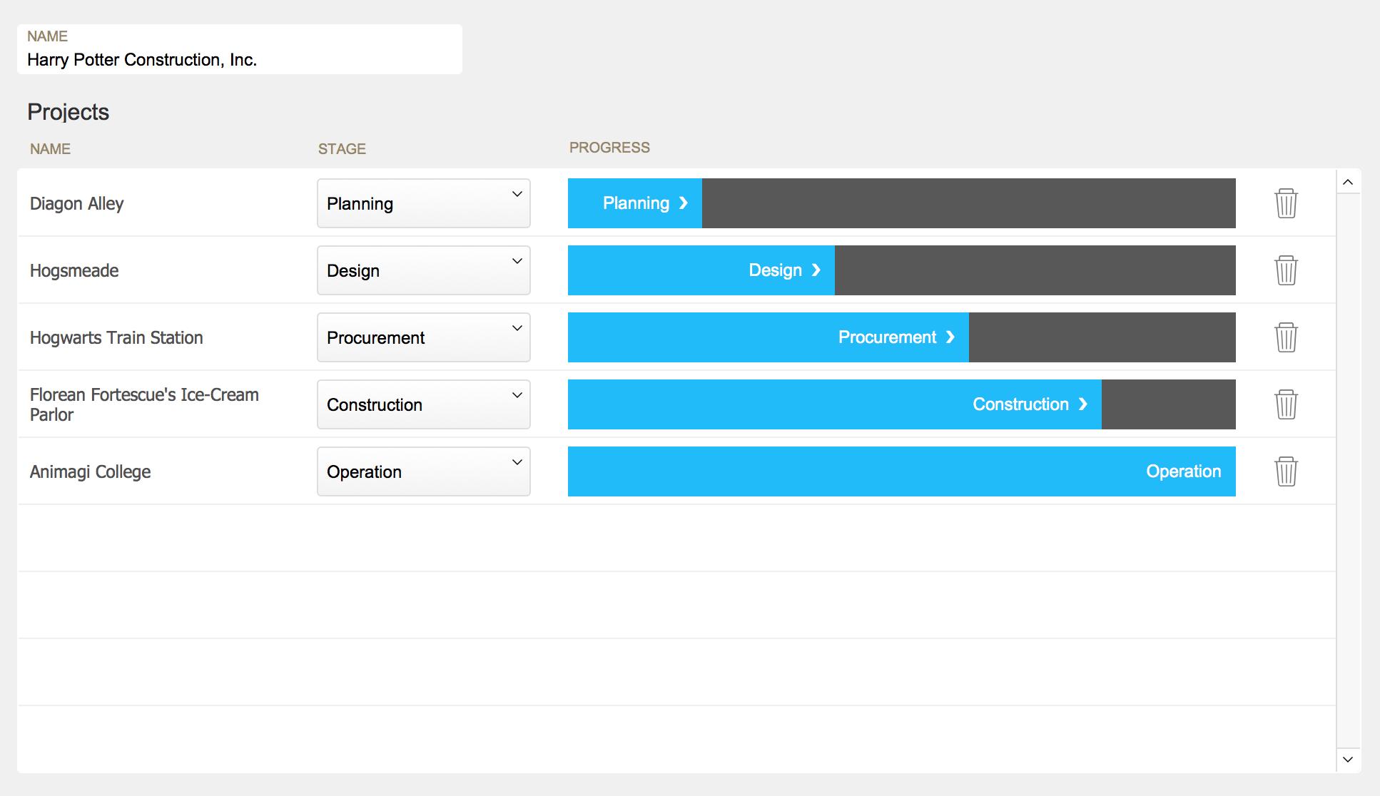 FileMaker Button bar as a Progress Bar, RESTfm