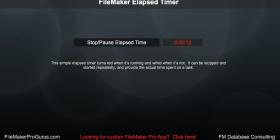 FileMaker Elapsed Timer