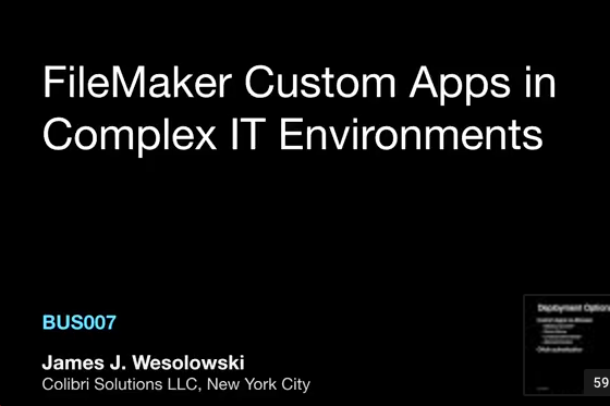 FileMaker in Complex IT Environments