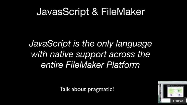 Integrating JavaScript and FileMaker