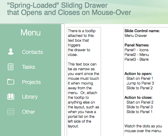 A FileMaker Sliding Drawer, Cloud Improvement, and Troubleshooting FileMaker