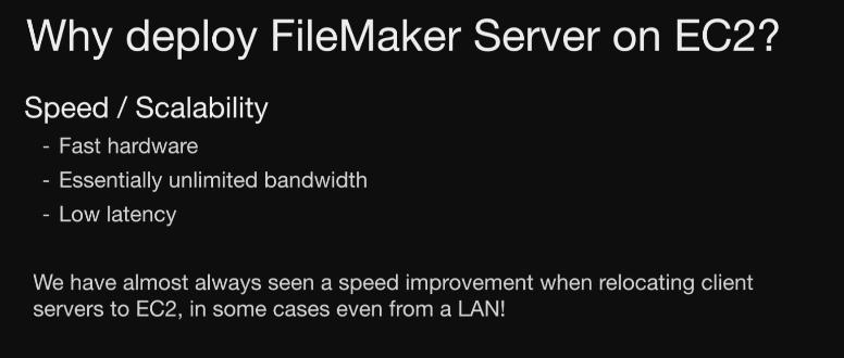FileMaker Server on AWS, Logging, and FM Backup