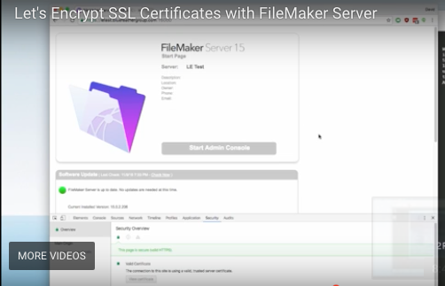 Free SSL Certificates for FileMaker Server - FileMakerProGurus
