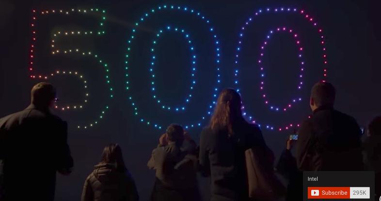 500 Drone Light Show