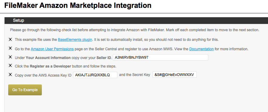 FileMaker to Amazon Database Example