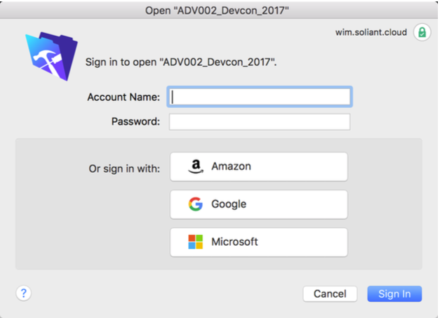 FileMaker External Authentication View
