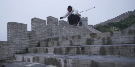 Skiing the Great Wall of China