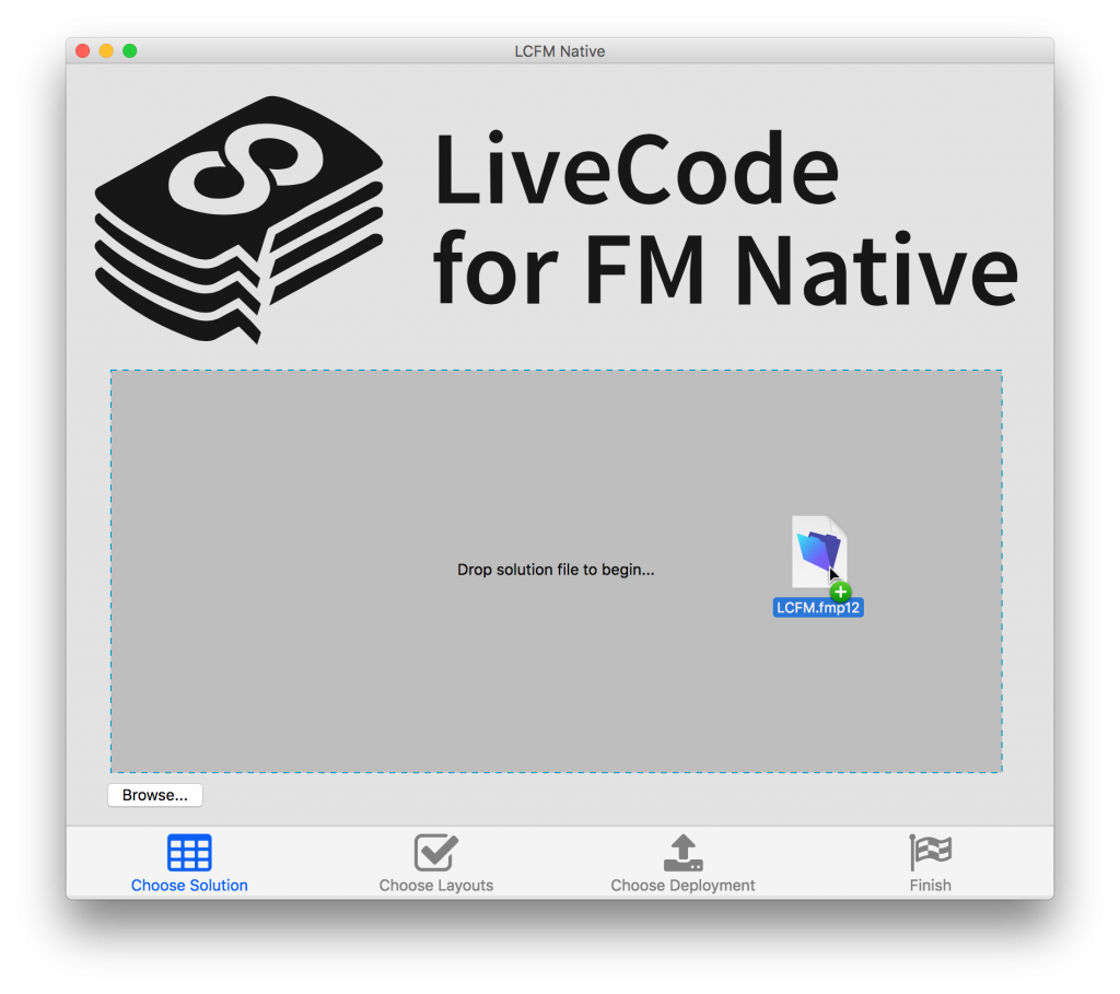 LiveCode for FM Native demonstration