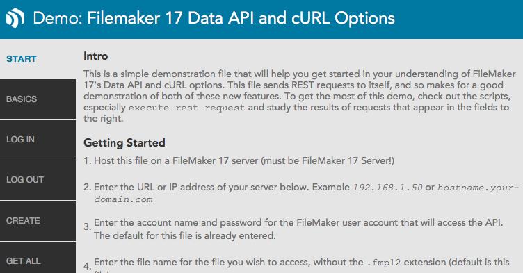 FileMaker 17 Data API - FileMakerProGurus