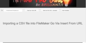 Import CSV file via Insert From URL