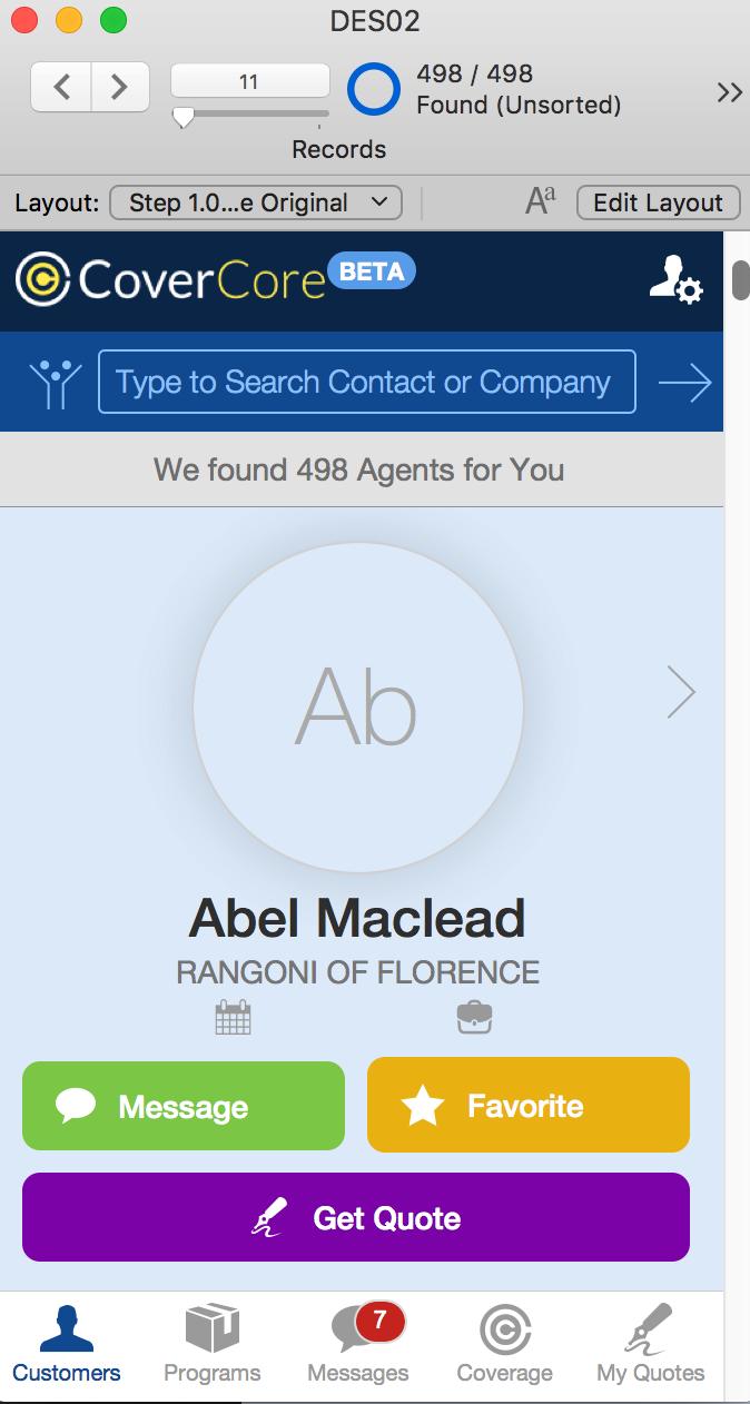 FileMaker Interface Design