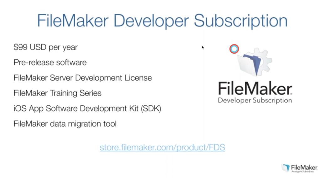FileMaker Developer Subscription Information