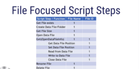 FileMaker 18 File Based Script Steps
